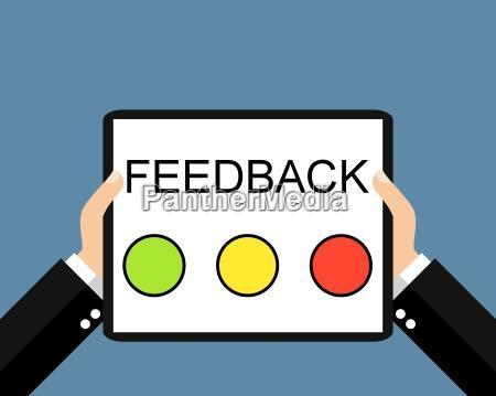 feedback mit dem tablet flat