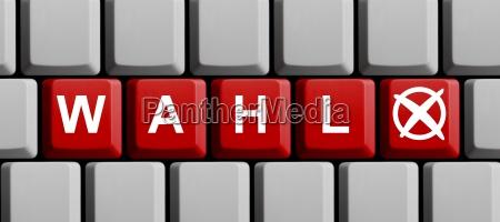 tastatur wahl online