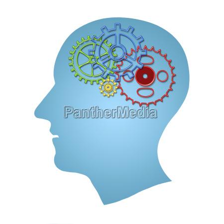 gehirn funktioniert konzept denken kreativitaetkonzept des