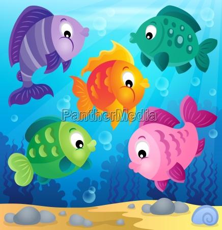 stylized fishes theme image 6