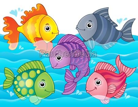 stylized fishes theme image 7