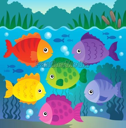 stylized fishes theme image 9