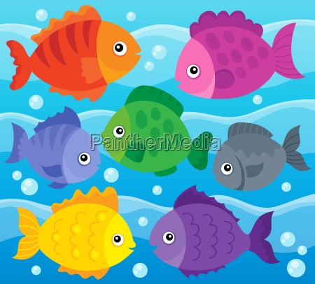 stylized fishes theme image 1