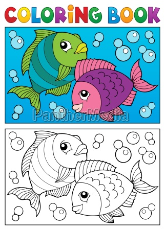 coloring book with fish theme 6