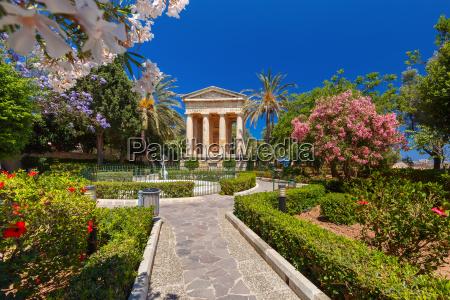 untere barrakka gardens valletta hauptstadt von