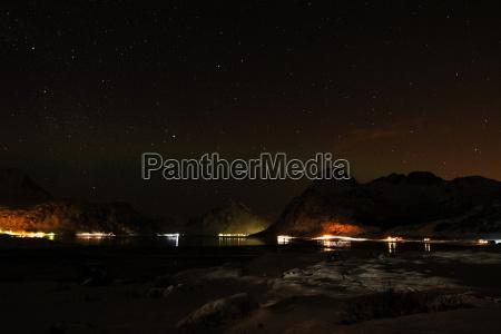nachthimmel im winter in norwegen