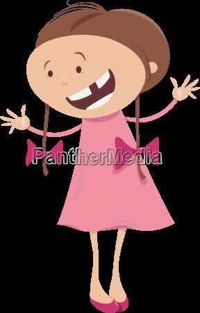 girl with braids cartoon character