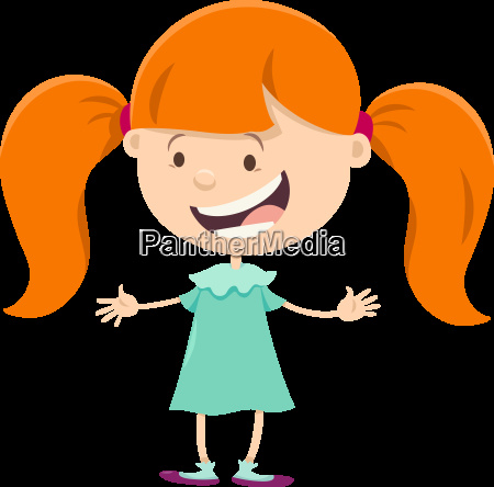 girl with pigtails cartoon character