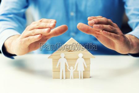 familien lebens und krankenversicherungskonzept