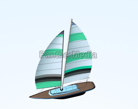 segelboot freigestellt
