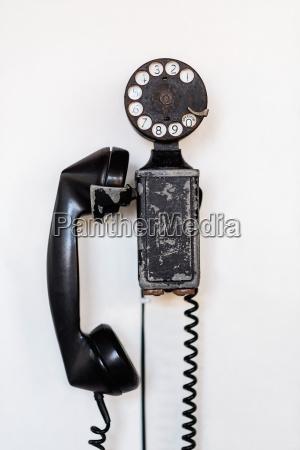 close up of vintage phone studio