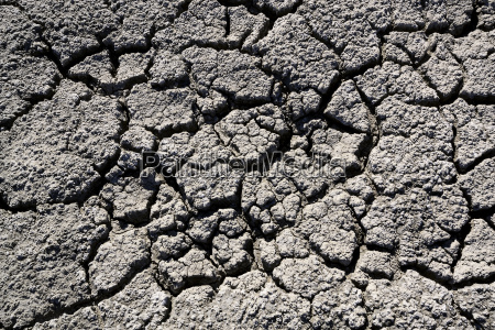 close up of cracked dry ground