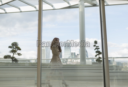 businesswoman talking on cell phone on