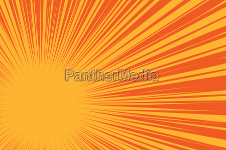 yellow sun on a red background