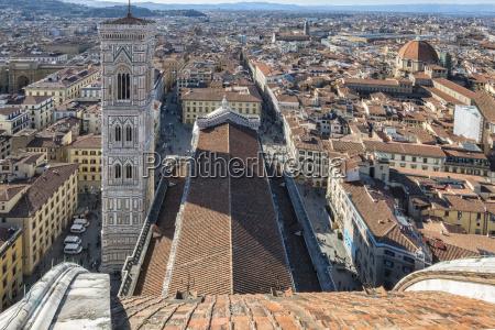 italien florenz ansicht zu campanile di
