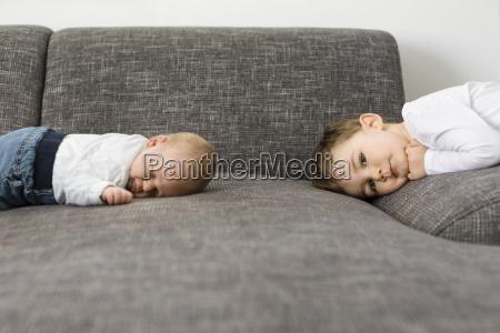 sleeping newborn baby boy and his