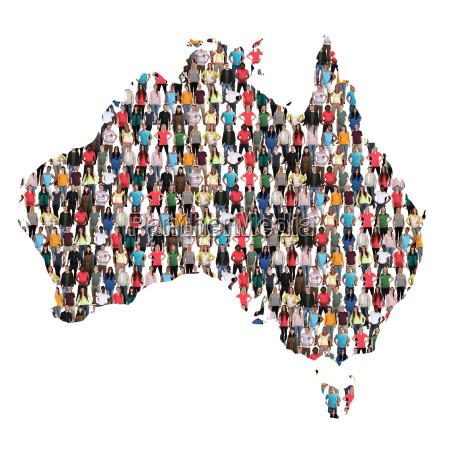 australia map people people group people