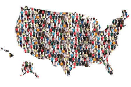 usa map people people people group