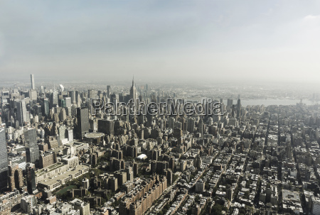 usa new york city manhattan skyline