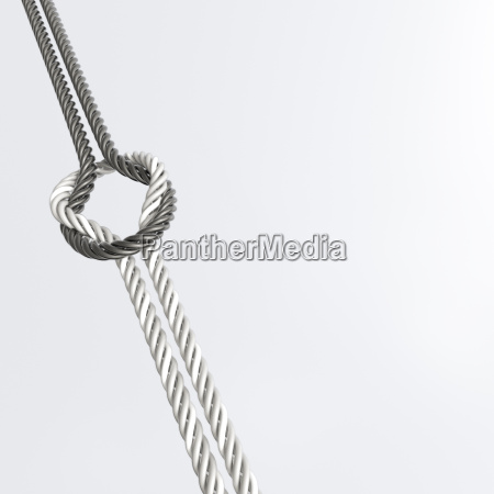 connection of two cords 3d rendering
