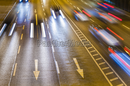 traffic on federal road by night