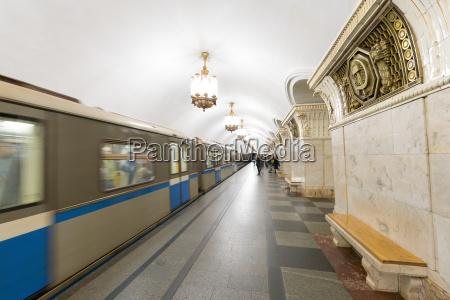 komsomolaskaya metro station moskau russland europa