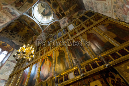 iconostasis inside the assumption cathedral the