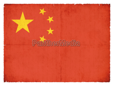 grunge flagge volksrepublik china