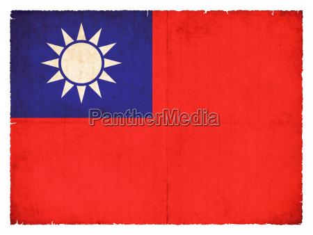grunge flagge taiwan