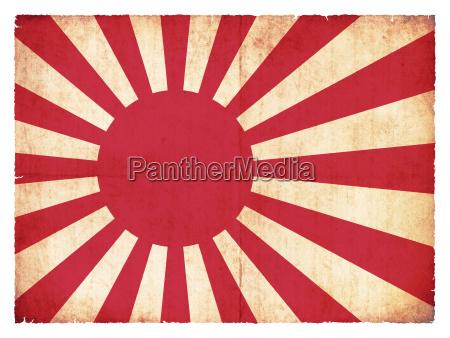 grunge flagge der marine japan