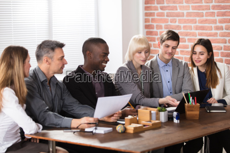 diverse businesspeople in meeting
