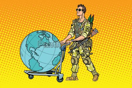militaertourismus der soeldner mit einem wagen
