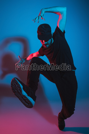 the silhouette of one hip hop