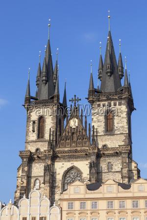 turm stadt prag orientierungspunkt gothic gotik