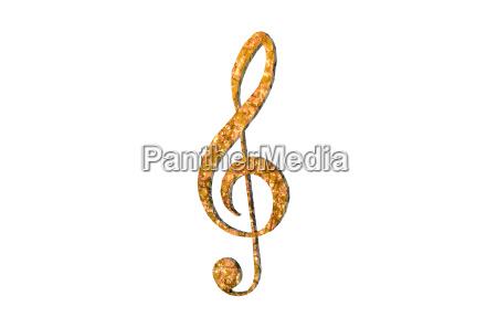 violinschluessel freigestellt