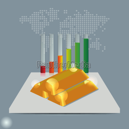 gold price concept gold price growing