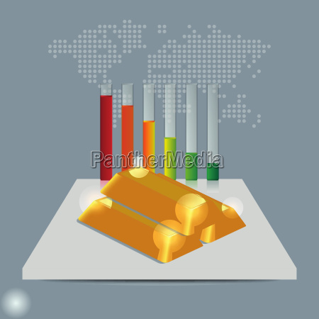 gold price concept gold price falling