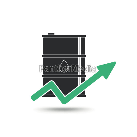 oil price concept oil and arrow