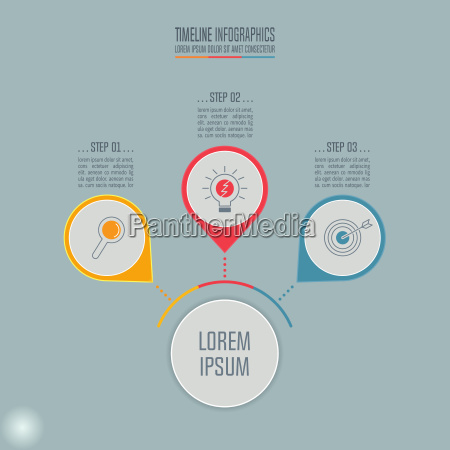 kreatives konzept fuer infografik timeline infografik