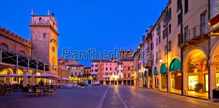 mantova city piazza delle erbe evening