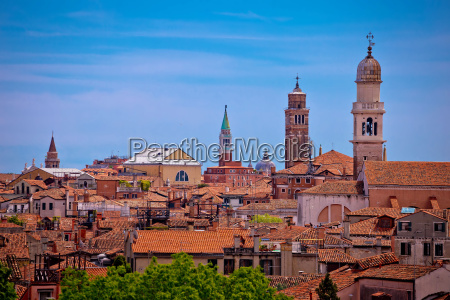 skyline and rooftops of venice view