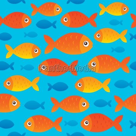 seamless background stylized fishes 2