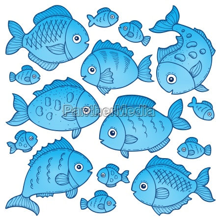 fish drawings theme image 2