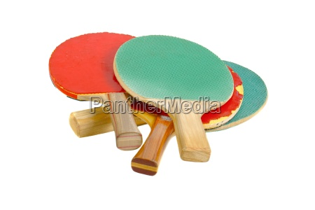 pingpong rackets on white