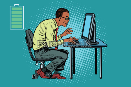 energy for work office businessman at