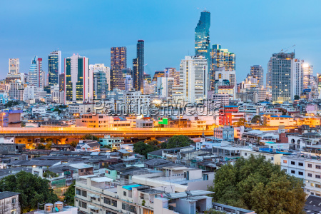 bangkok skyline sonnenuntergang