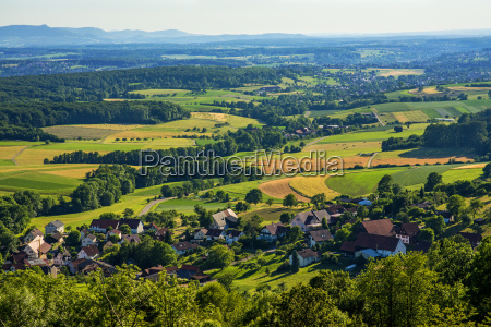 panoramablick zur schwaebischen alb