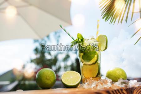 fresh caipirinha in summer
