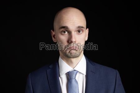 portrait of sadness man