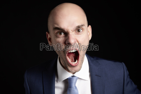 screaming young man